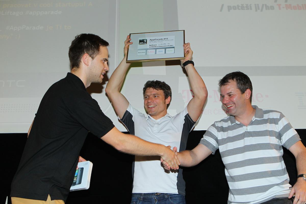 1. místo pro aplikaci uLékaře.cz na 15. AppParade, která se konala 26.5.2014 v Biu Oko (zdroj: mediar.cz)