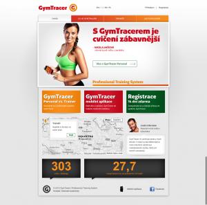 01 Hlavní stránka   GymTracer