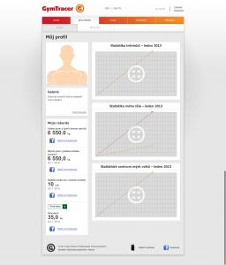 Můj profil - statistika  GymTracer