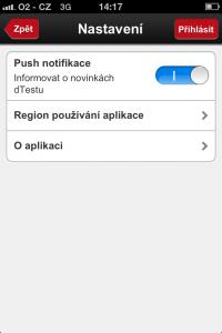 dTest - screenshoty (iPhone)