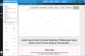 Návrh homepage v nástroji UXPin