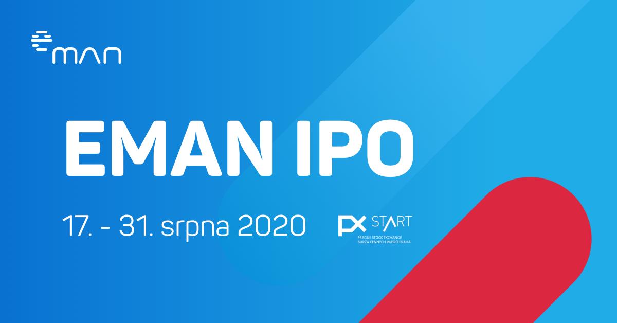 eMan - primární úpis akcií 17.-31. srpna 2020